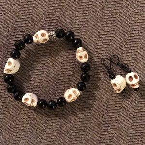 Jewelry - Skull Bracelet and Earrings